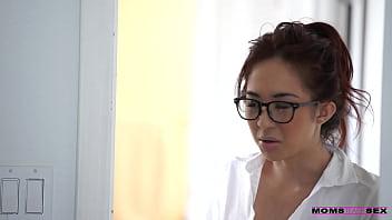 Mom teachs sex stepson Seduced tutor Mila Jade and Nina Elle