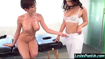 Hot Teen Lez (Emily Addison & Violet Starr) Is Punish With Dildos By Mean Lesbo video-05