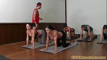 yoga turned into a fucking session