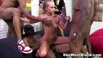 Young girls gangbanged Cute blonde britney young gangbanged by black cocks