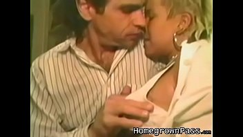 Big tits doggy style retro - Attractive blonde woman takes it from behind in bed