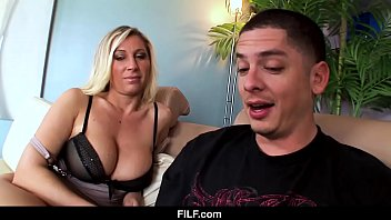 FILF - Devon Lee Wants Her Nephew to Cum On Her Tits