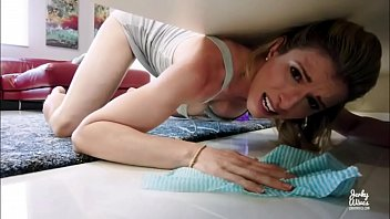 Hot Stepmother Fucked in The ass While Stuck Under Bed