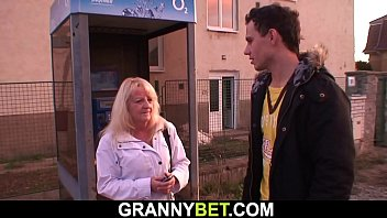 He picks up blonde old granny