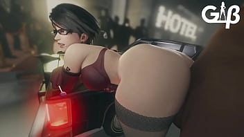 Bayonetta pounded roughly making her ass jiggle