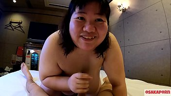 Super fatty Japanese girl talks in interview and enjoys blowjob with bouncing huge tits and fat ass.  Asian takes shower and does oral deepthroat. BBW OSAKAPORN