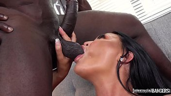 Interracial bangers can't get enough of busty Milf Jasmine Jae's big tits