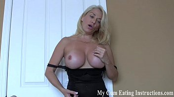 I caught you jerking off and now you have to eat your cum CEI
