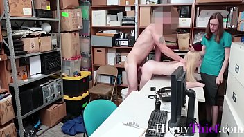 Couple Caught Fucking & Blackmailed By Security- Emma Starleto