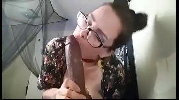Hottie Sexts Big dick bbc Lover with Sucking dick during cam show with vibrator