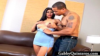 Gabby Quinteros Facialized By Black Cock
