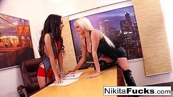 Nikita Von James's lesbian office fuck