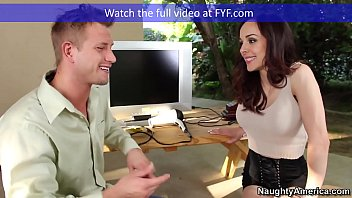 Cytherea gets fucked Naughty america brunette cytherea fucking in the couch with her tattoos