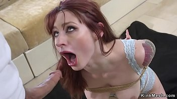 Redhead tight asshole fucked in bdsm