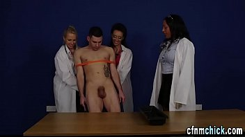 Doctor milking cock - Cfnm doctors milk loser