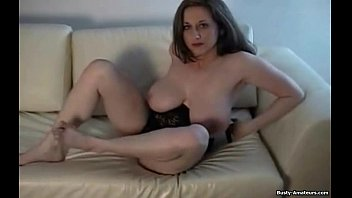 Busty Brunette Kitty Playing her Pussy | Video Make Love