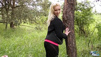 MyFirstPublic Naive blonde babe convinced by stranger to fuck in public