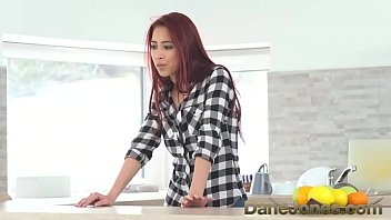 Dane Jones Hot wife facesitting lazy man and fucked on counter and sofa