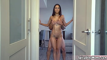 My stepmother has a special fetish for standing sex