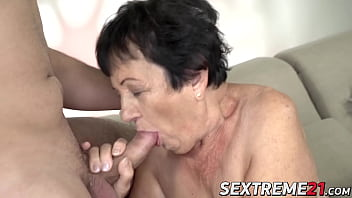 Big ass granny get her pussy slammed by younger lover pornhub video