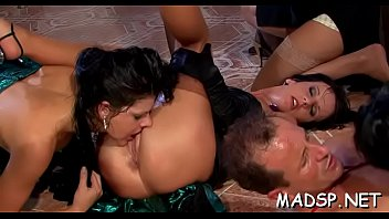 Babes take up with the tongue every other and also get fucked by a dude