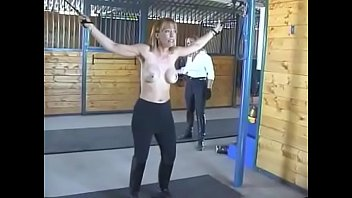 Blondie Jaque is Hard Whiped in the barn