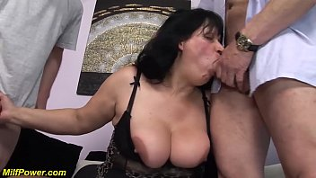 bbw moms first double penetration thumbnail