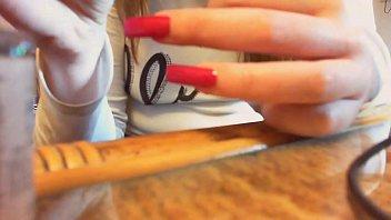 Asmr unghie lunghe video sexy mani ed unghie