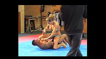 Domination female video wrestling - Roxy rules backstage erotic female domination