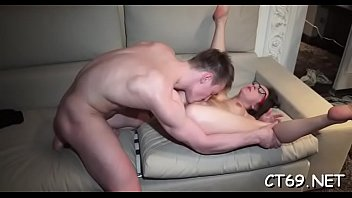 Wet hole of a bitch endures deep penetration by a massive ramrod preview image