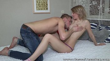 Casual Teen Sex - Teeny Katya surprises with great fuck preview image