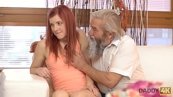 DADDY4K. Adorable Vanessa comes closer to her boyfriend's bearded dad