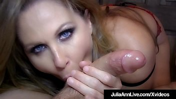 Huge blow job Blow job queen milf julia ann gets a load of cum