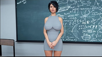22 - Milfy City - v0.6e - Part 22 - Teacher has huge orgasm before her students (dubbing)