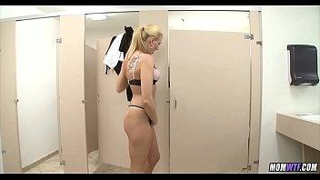 Blonde Waitress Fucked In Bathroom