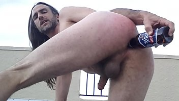 Bisexual lehigh acres florida Buttslut gringo-caliente gregory morelia naked fucks own ass with beer bottle on public hotel rooftop in florida usa