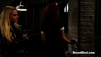 Betrayed Cargo: Submissive Lesbian Slave Sisters Branded And Sent For Sale