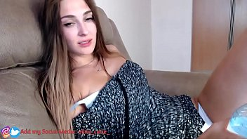 girl gets an orgasm from lovense and rolls her eyes, part 2