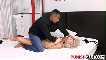 Blonde babe Molly Mae is tied up and filled up hard