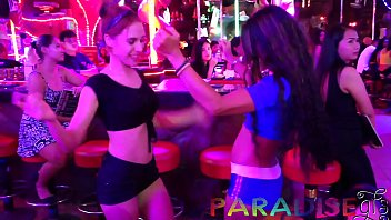 Paradise Gfs - Twins party on vacation and getting fucked at club - Part 1