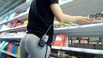 Candid Perfect Big Ass In Grey Leggings (No Sound)