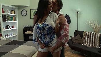 Big booty Arab slut loves white cock