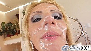 Man covered in own cum xxx Cum for cover gia is waiting for her cum shower