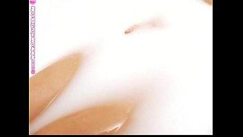 Missy Preston in a milk bath