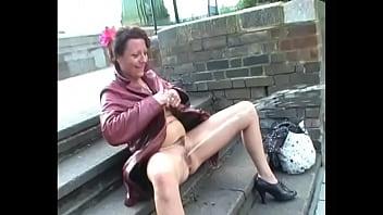 Pissing exhibitionist