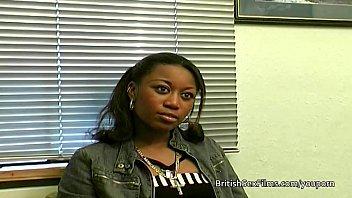 Black nipple porn Ebony amateur filmed at real porn casting audition