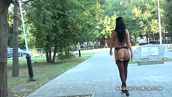 Public flashing and playing in stockings nude-public thumbnail