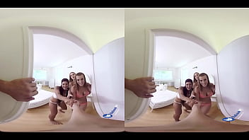 Threesome Pillow Fight VR Sex