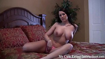 Shoot your cum and eat it when I tell you to CEI