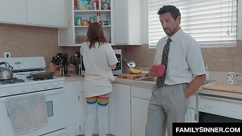 Naughty stepdaughter seduce father